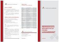 Letak - Profesionalna rehabilitacija osoba s invaliditetom