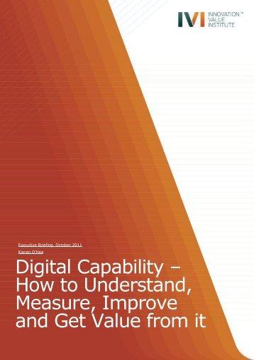 Digital Capability - IVI Innovation Value Institute - National University ...