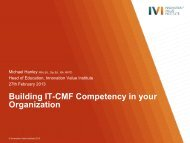 Building IT-CMF Competency in your Organization - IVI Innovation ...