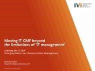 IT management - IVI Innovation Value Institute