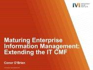 Enterprise Information Management - IVI Innovation Value Institute