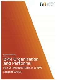 BPM Org+Personnel Part 2 - IVI Innovation Value Institute - National ...