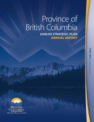 Province of British Columbia - Budget