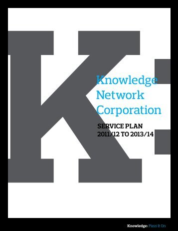 Knowledge Network Corporation - Budget - Government of British ...