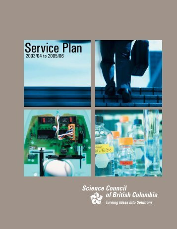 Science Council of British Columbia - Budget