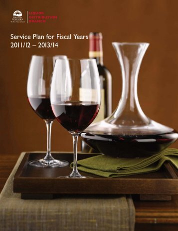 Service Plan for Fiscal Years 2011/12 - Budget - Government of ...
