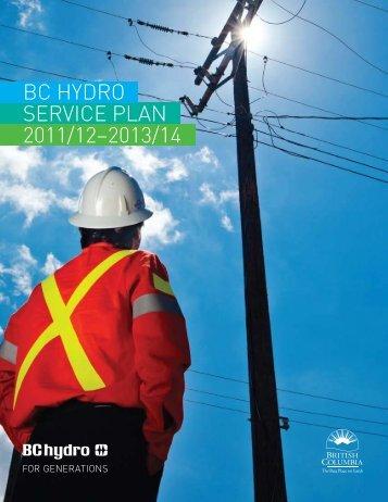 BC Hydro Service Plan 2011/12-2013/14 - Budget