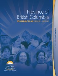 Province of British Columbia's 2009/10 - 2011/12 Strategic - Budget