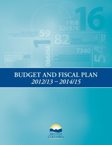 Budget and Fiscal Plan - Budget - Government of British Columbia