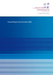 Annual Report and Accounts 2008 - The Health Insurance Authority