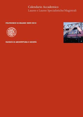 Calendario Accademico - Politecnico di Milano