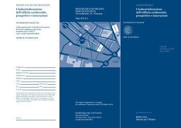 L'industrializzazione dell'edilizia residenziale - Politecnico di Milano