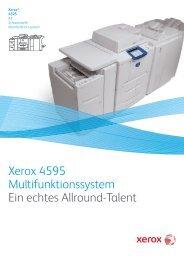 Xerox 4595 A3 Schwarzweiß-Multifunktionssystem (PDF ... - E-Dox