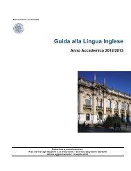 Guida alla Lingua Inglese - Politecnico di Milano
