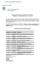 PRIMA GRADUATORIA SELEZIONI INGEGNERIA MOBILITA' INTERNAZIONALE A.A. 2013/14