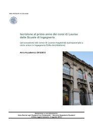 Iscrizione al primo anno dei corsi di Laurea delle Scuole di Ingegneria