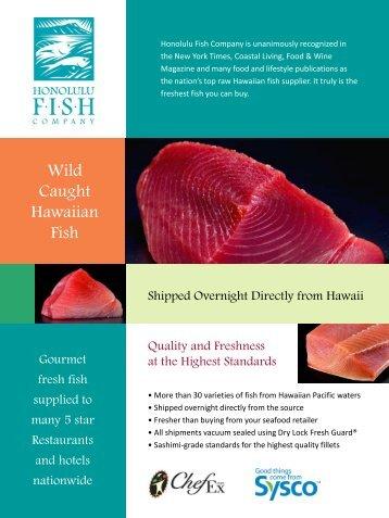 Wild Caught Hawaiian Fish - Sysco