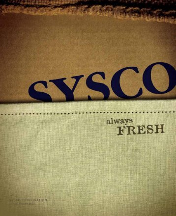 Download PDF Summary Report - Sysco