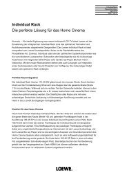 Individual Rack Die perfekte Lösung für das Home ... - Loewe AG