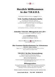 Speisekarte - Trude