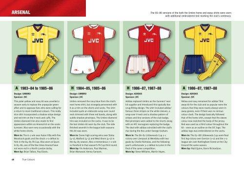 ARSENAL - True Colours Football Kits f98f5f5a0