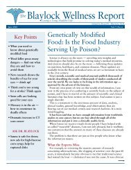The Blaylock Wellness Report - True Food Foundation