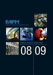 ANNUAL REPORT 2008-2009 - FAPM