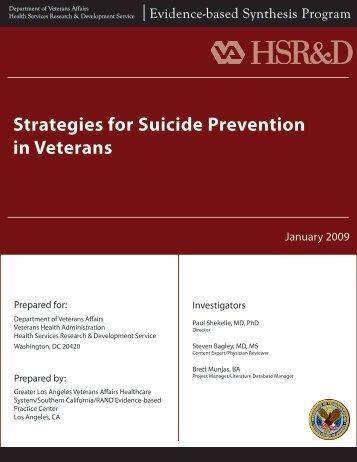 Report - HSR&D - US Department of Veterans Affairs