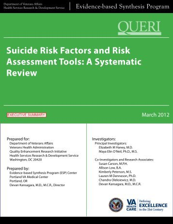 Suicide Risk Factors and Risk Assessment Tools: A Sytematic Review