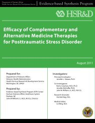 Efficacy of Complementary and Alternative Medicine ... - HSR&D