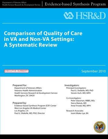 Executive Summary - HSR&D