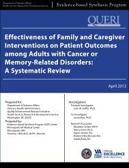 Effectiveness of Family and Caregiver Interventions on Patient ...