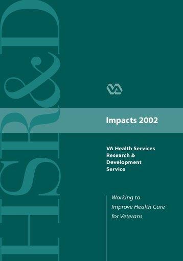 Impacts 2002 (Page 2) - HSR&D