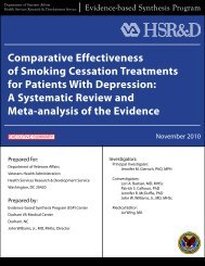 Comparative Effectiveness of Smoking Cessation ... - HSR&D
