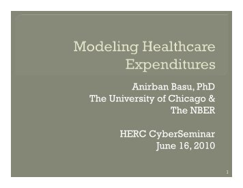 Modeling Healthcare Expenditures
