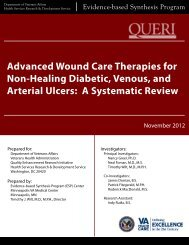 Advanced Wound Care Therapies for Non-Healing ... - HSR&D
