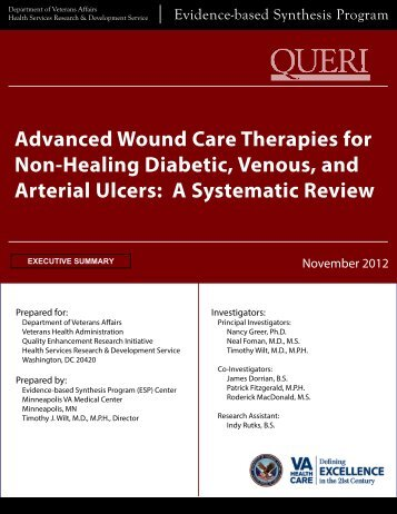 Advanced Wound Care Therapies for Non-Healing Diabetic, Venous ...