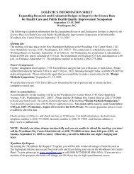Logistics - Quality Improvement Symposium, Sept 13-15, 2005