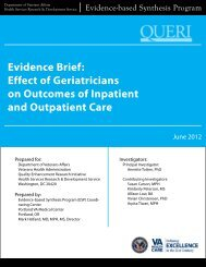 Effect of Geriatricians on Outcomes of Inpatient and Outpatient Care