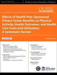 Effects of Health Plan-Sponsored Fitness Center Benefits on ...