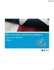 Overview of the Office of Analytics and Business Intelligence