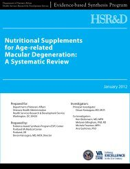 Nutritional Supplements for Age-related Macular ... - HSR&D
