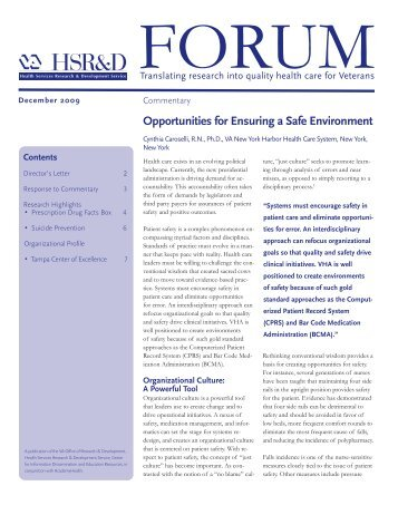 FORUM - December 2009 - Translating research into quality health ...