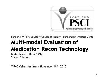 Multi-modal Evaluation of Medication Recon Technology