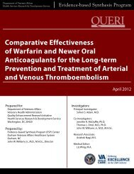 Comparative Effectiveness of Warfarin and Newer Oral ...