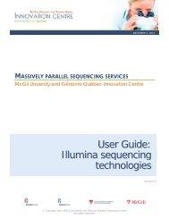 User Guide - McGill University and Génome Québec Innovation Centre