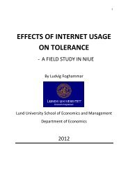 EFFECTS OF INTERNET USAGE ON TOLERANCE - Live@Lund