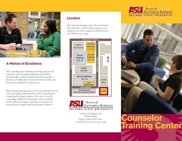 Counselor Training Center - School of Letters and Sciences ...