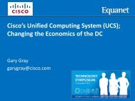 Cisco's Unified Computing System (UCS); Changing the ... - Equanet