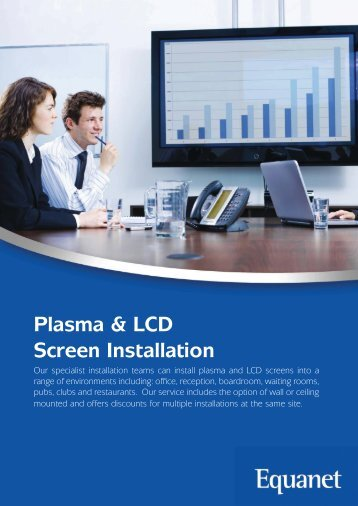 Plasma & LCD Screen Installation - Equanet
